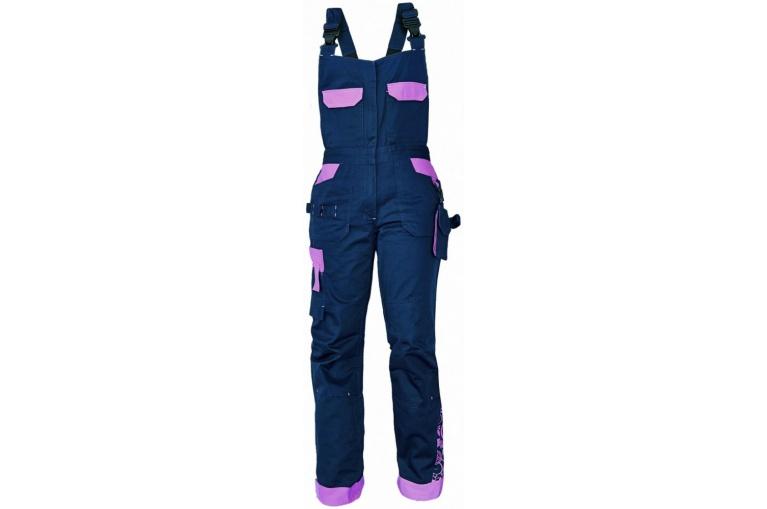 Pracovní kalhoty s laclem YOWIE modrofialové - Koutnik.com 7d55014ab8